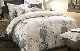 com 100 cotton 3pcs duvet cover and shams bedding set botanical fl flowers printed king size home kitchen