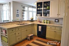 Old Metal Kitchen Cabinets Painting Kitchen Cabinets With Chalk Paint Update Sincerely Sara D