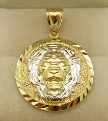 10k yellow gold lion head pendant face medallion charm lion nqqbbc6694 fine charms charm bracelets