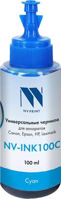 NV Print NV-INK100, <b>Cyan чернила</b> на водной основе для Сanon ...