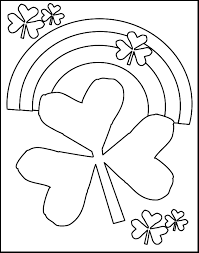 Small Picture St Patricks Day Shamrocks and Rainbows Free Coloring Pages for