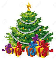 Christmas Tree, Cartoon und Vektor Szene Lizenzfreie Bilder - 5539143
