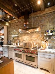 Rustic Country Kitchens Alluring Rustic Country Kitchen Design With Marble Table Top
