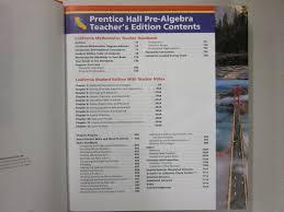 Prentice Hall Mathematics California Pre Algebra Teachers Edition 0132031272