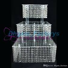 party chandelier 3 tier crystal cake stand square acrylic crystal chandelier cupcake stand wedding anniversary party