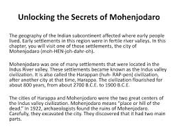 ppt unlocking the secrets of mohenjodaro powerpoint presentation  unlocking the secrets of mohenjodaro
