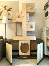 cool cat tree furniture. Cat Tower With Litter Box Cool Tree Plans Combo . Furniture