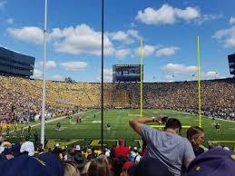 Michigan Stadium Section 12 Home Of Michigan Wolverines