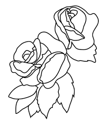 flower coloring pages roses flower images two rose bouquets