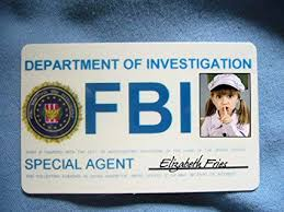 Intelligent Beautiful Identification Fun Office Badges Card Products Fbi Amazon Id Agent com