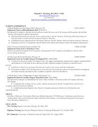Registered Nurse Resume Objective Experienced Samples Vesochieuxo