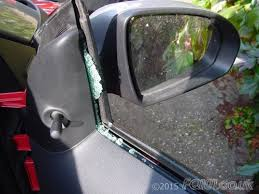 although you can replace the glass just by removing the outer door panel we found that the broken glass managed to go everywhere inside the door