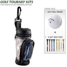 promotional golf gift set ball bag kit with tees customized golf tournament kits