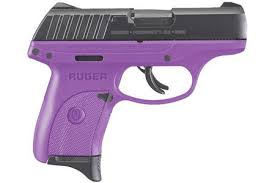 ruger ec9s 9mm carry conceal pistol with purple cerakote finish