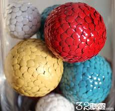 Red Decorative Balls For Bowls Easy to make Thumbtack Craft Balls 100 Turns100 Turns 43
