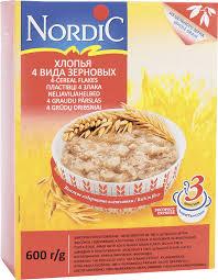 <b>Хлопья Nordic 4х</b> зерновые <b>NORDIC</b>, цена – купить с доставкой в ...