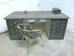 vintage metal office desk. Vintage Industrial Desk Metal Polished Steel Wood Office Retro For