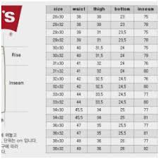 36 Accurate Levi Waist Size Chart