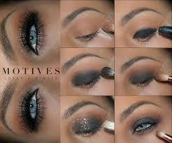 black smokey eye tutorial for blue eyes