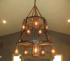 wagon wheel chandelier large