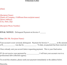 Delinquent Account Letter Template Free Collection Letter Template Doc 28kb 1 Page S