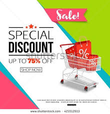online format special discount template sale banner poster stock vector hd