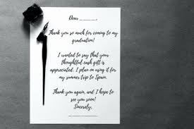 Birthday Thank You Card Messages Awesome College Graduation Thank