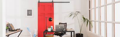 red sliding barn door. Austin Interior Sliding Barn Door Red