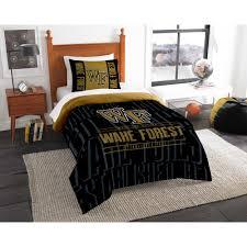 wake forest 2 pc modern take multi twin comforter set