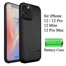 Pin Dành Cho iPhone 12 Max Pro Mini IPhone12 12Pro Ip12 Ip12pro Tôi Ốp Lưng  Điện Thoại 6000/5000/4000MAh Mở Rộng Sạc Điện Bao|Phone Case & Covers