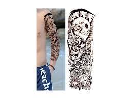 Vodeodolné Dočasné Tetovanie Motiv Lebka čierna