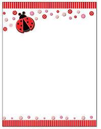 Ladybug Border Stationery 8 5 X 11 60 Letterhead Sheets