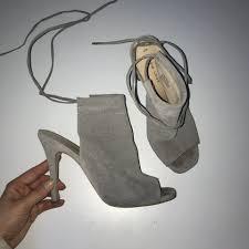 Light Up Stiletto Heels Light Grey Half Boot Stiletto Heeled Sandals Open Depop