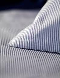 tiny stripe navy pillowcases