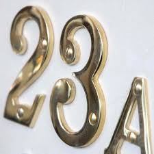 brass 3 inch house numbers