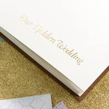 Golden Wedding Anniversary Album By Begolden Notonthehighstreet Com