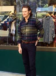 """Kristieanne Karlson on Twitter: """"Best lunchtime EVER!! @SamHeughan  @Barbour… """""""