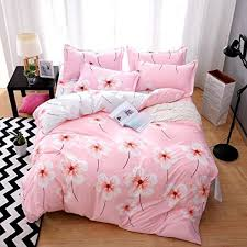 heaven home textile pink flowers duvet bedding cover sets 4 pieces quilt comforter cover