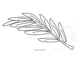 Branch Template Olive Branch Coloring Page Easter Template