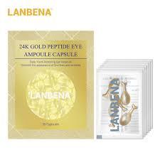 <b>LANBENA 24K Gold</b> Peptide Wrinkles <b>Eye</b> Ampoule Capsule <b>Eye</b> ...