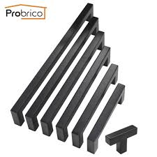 Square Kitchen Door Handles Aliexpresscom Buy Probrico Black Cabinet Handle 12mm12mm