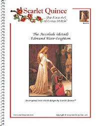 Blair Com Size Chart Scarlet Quince Bla001 D The Accolade Detail By Edmund Blair Leighton Counted Cross Stitch Chart Regular Size Symbols