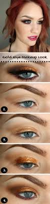 wedding makeup for blue eyes gold makeup look step by step makeup tutorials for