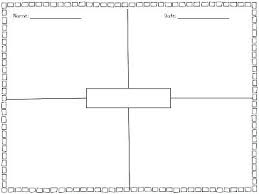 Four Square Chart Template Blank Four Square Writing Template New Baseball Card 4