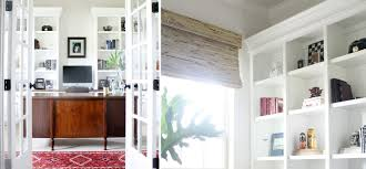 office built in. Home Office Gets A Polished Look With Built-ins And Bamboo Shades Built In