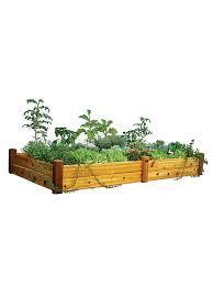tier cedar raised garden bed planter 48