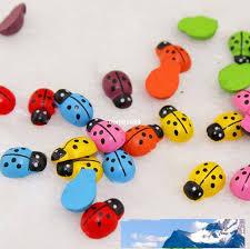new style cartoon colorful wood ladybug