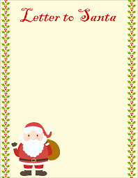 Free Letter From Santa Word Template 20 Free Letter To Santa Templates For Kids To Write Wishes