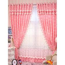 Romantic Pink Curtains With Sweetheart Pattern Princess Style Bedroom  Curtains