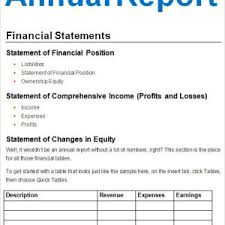 Simple Annual Report Examples